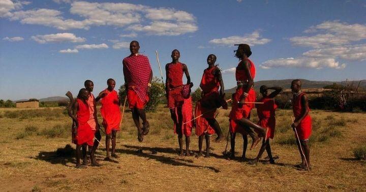 Maasai jumping dance ritual
